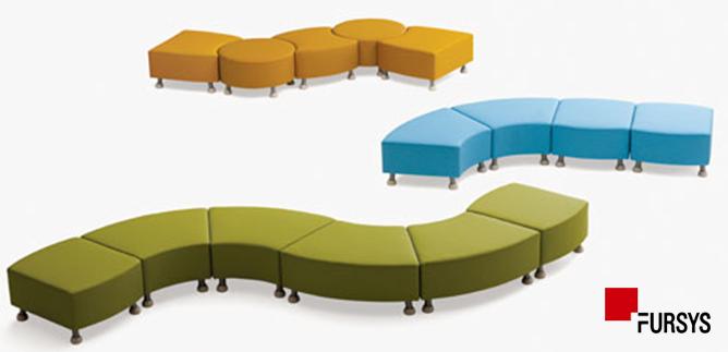Fursys Teems Kidu0027s Library Sofa Stool Type
